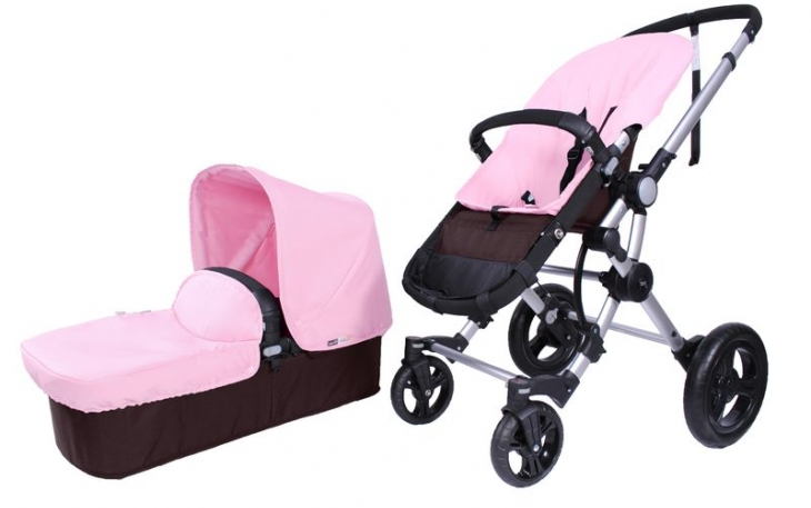 Duo BabyAce 042 choco de Baby Essentials plata rosa