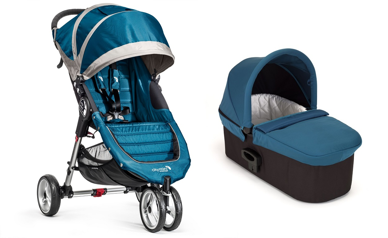 .Duo Baby Jogger City Mini 3 y Capazo Deluxe turquesa turquesa/gris