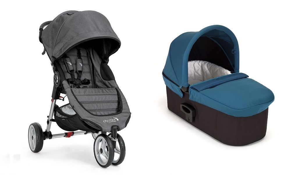 .Duo Baby Jogger City Mini 3 y Capazo Deluxe turquesa denim