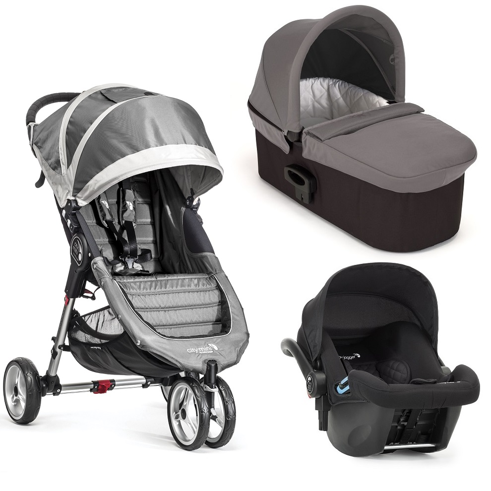 Trio Baby Jogger City Mini 3 gris gris