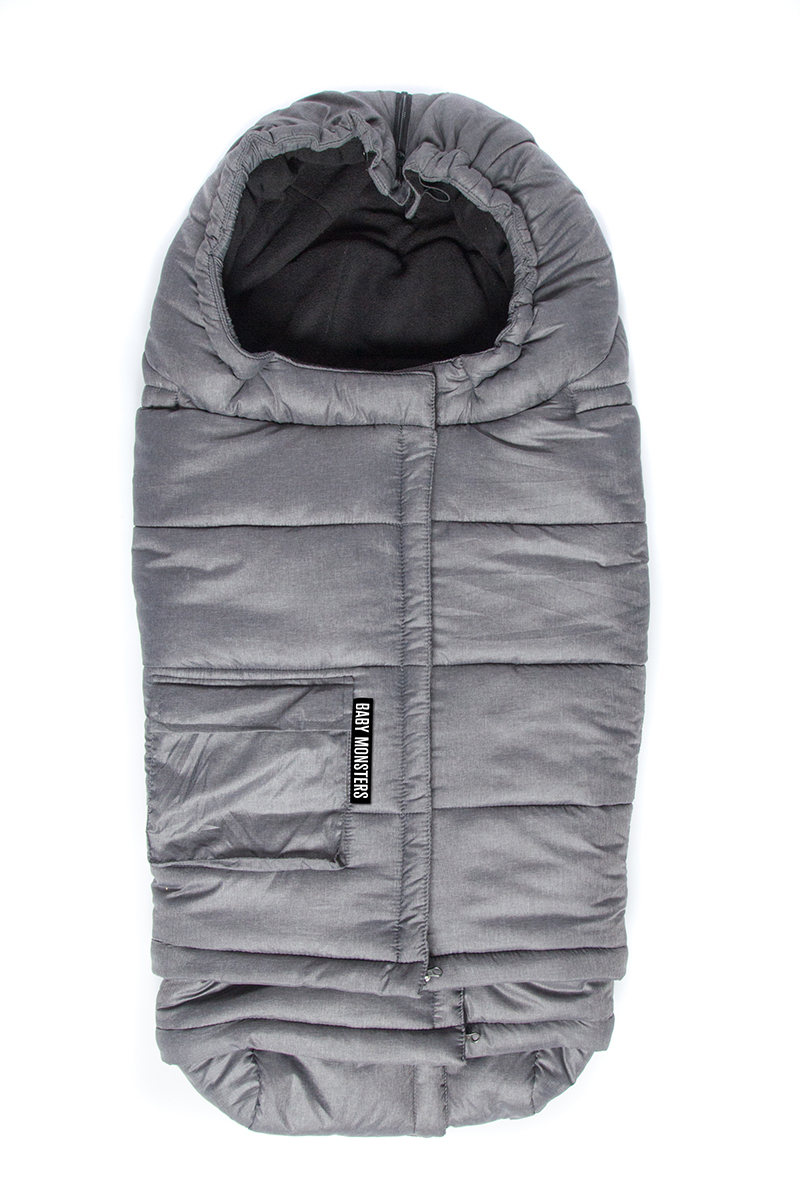 Saco universal evolutivo Ice Size de Baby Monsters gris