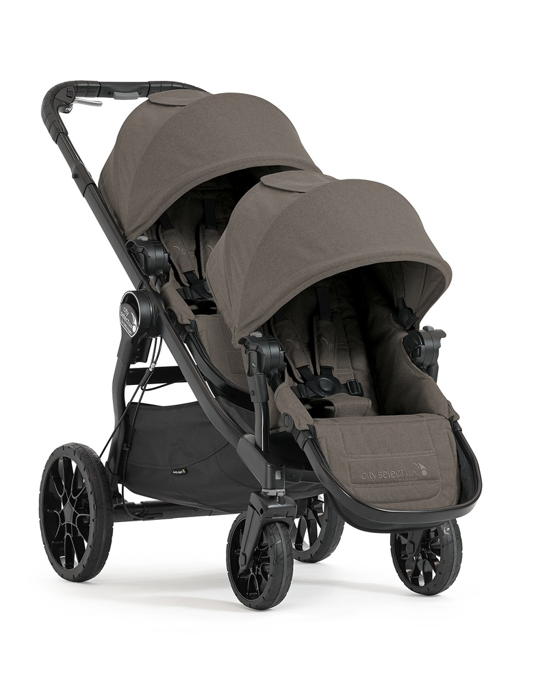 . Baby Jogger City Select Lux con 2 asientos y 2 capazos color topo