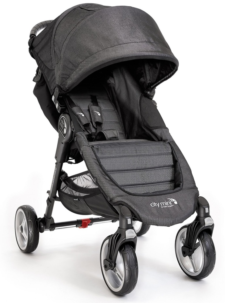 .Duo Baby Jogger City Mini 4 y Capazo Deluxe Denim + barra delantera