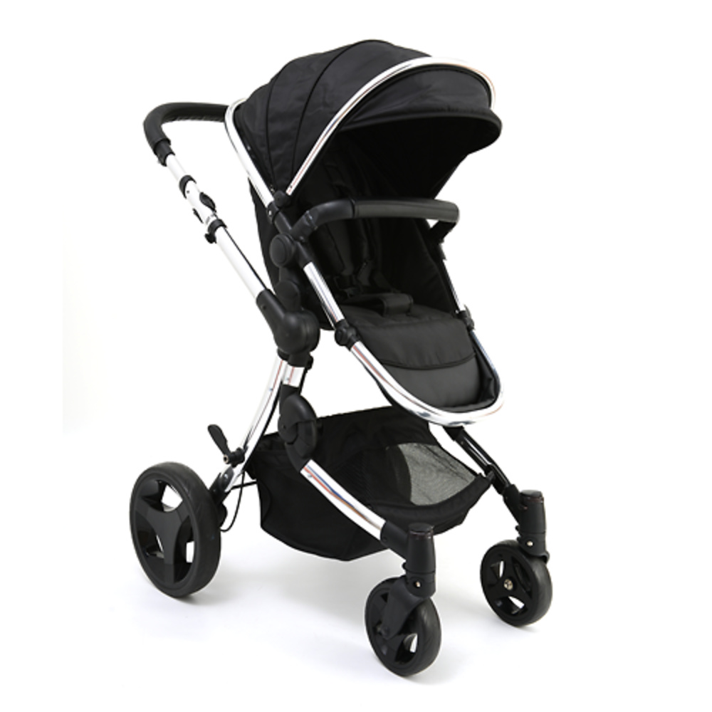 Cochecito premium color negro de baby monsters a pasear for Cochecitos de bebe maclaren