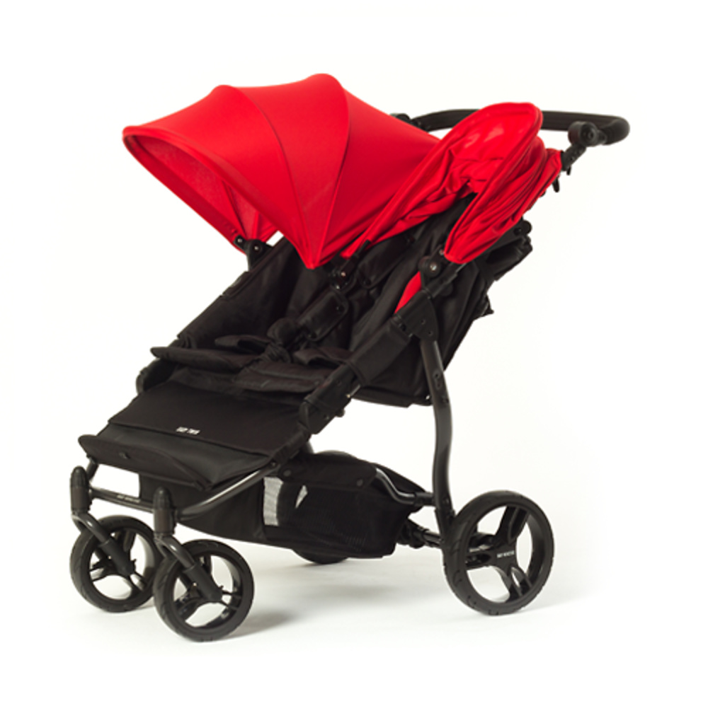 Cochecito gemelar Easy Twin 2.0 rojo de Baby Monsters