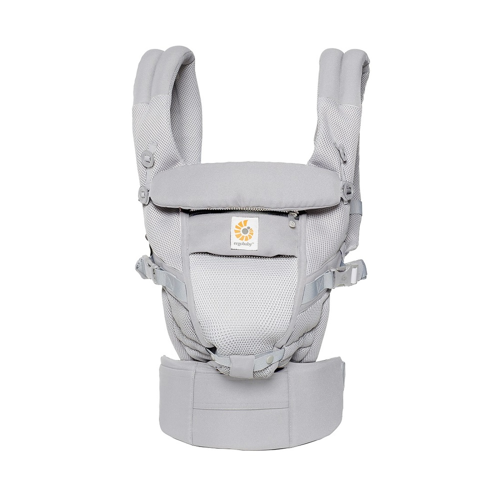Mochila portabebé Ergobaby Adapt Cool Air color gris