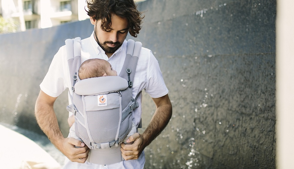 Mochila Portabebe Ergobaby Adapt Cool Air Color Gris