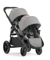 . Baby Jogger City Select Lux con 2 asientos y 1 capazo color gris