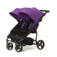Cochecito gemelar Easy Twin 2.0 morado de Baby Monsters
